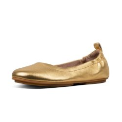 FitFlop Allegro Ballet Flats in Artisan Gold