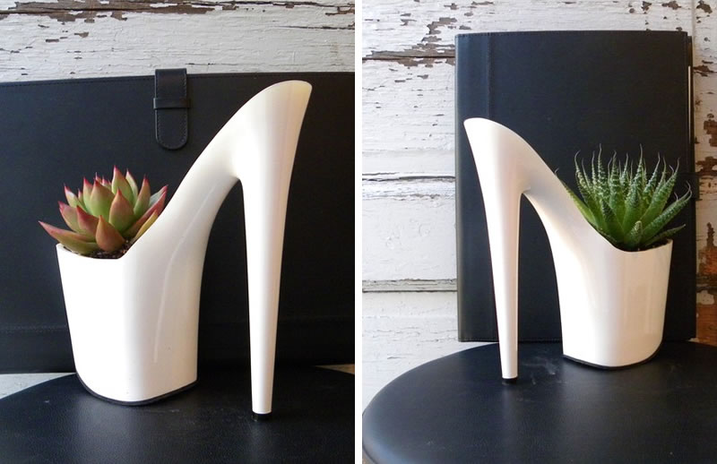 Heel Planter, Turn your old shoes into planters with these 5 easy steps on the Shoetique Blog
