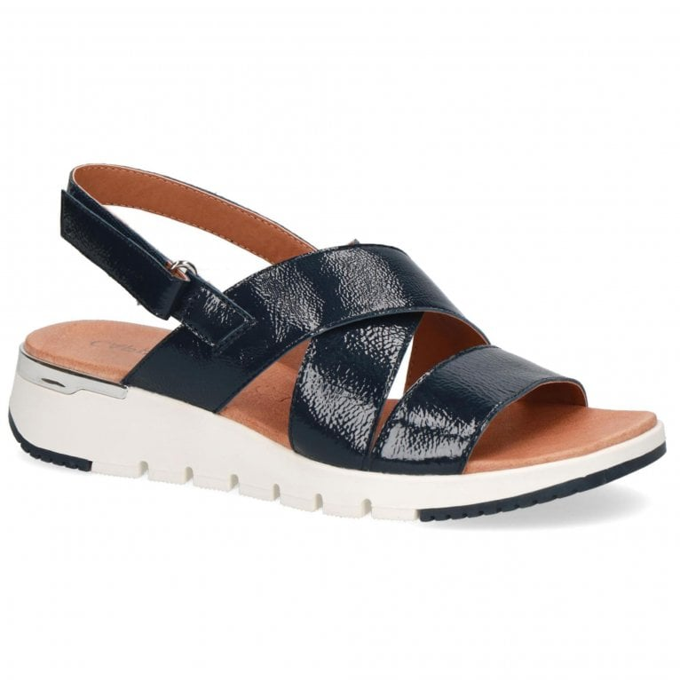 Caprice Gravity Womens Low Wedge Sandals