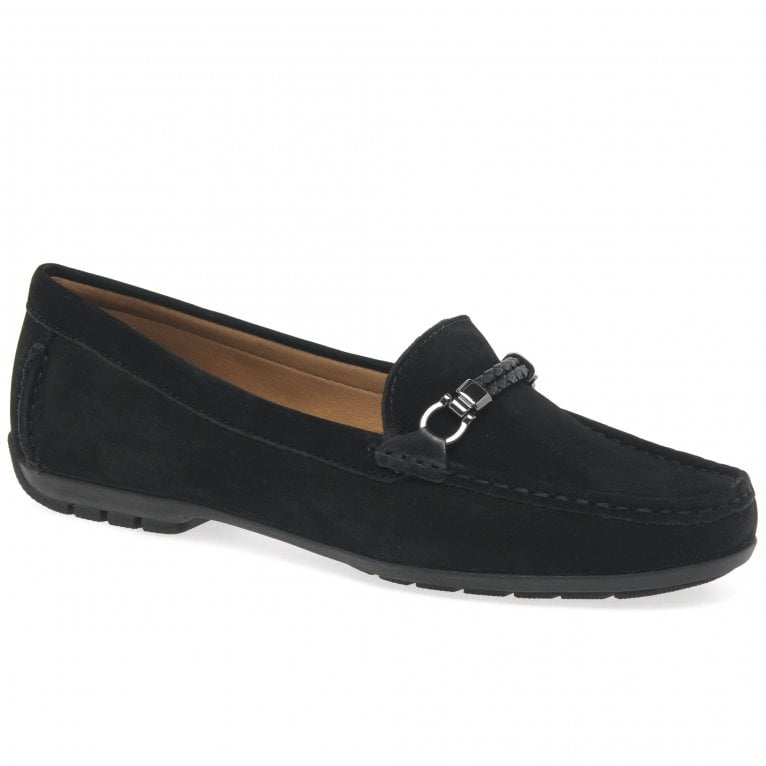 Charles Clinkard Bella Womens Nubuck Leather Slip On Driving Moccasins