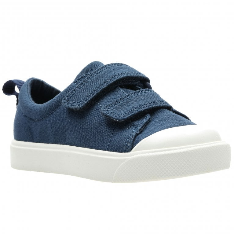 Clarks City FlareLo T Boys Infant Canvas Shoes