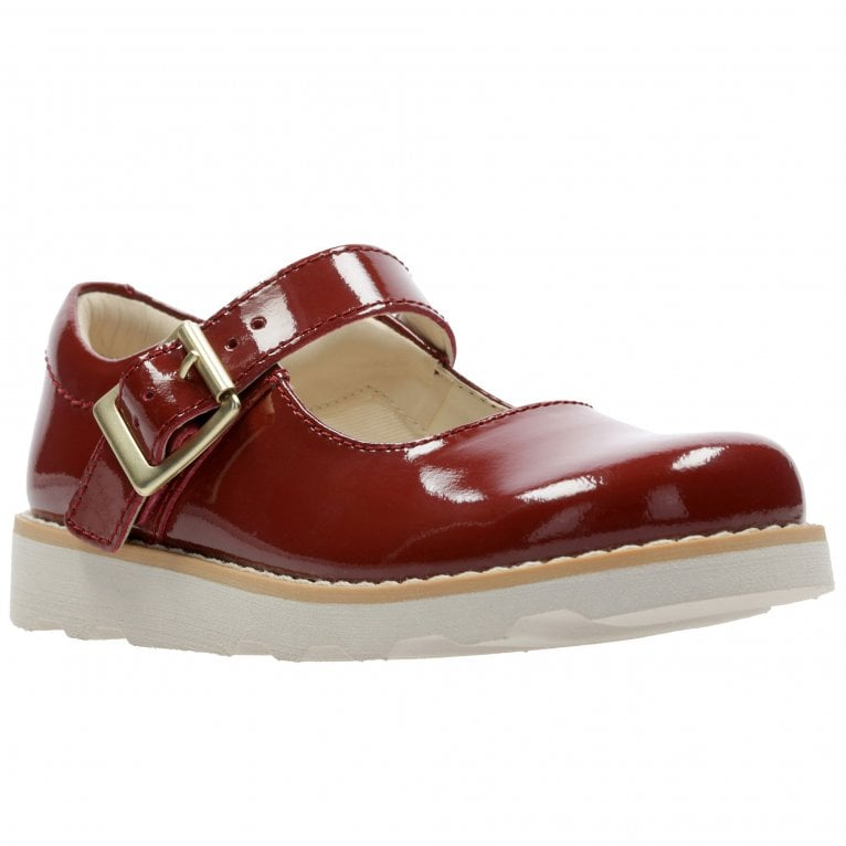 Clarks Crown Honor Girls Infant Leather Mary Jane Chunky Sole Shoes