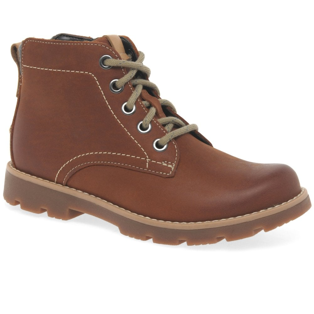 Clarks Comet Rock Boys Leather Boots
