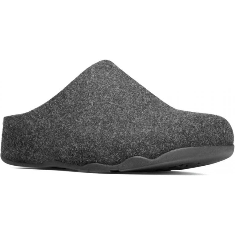 Mens 80072 Closed Toe Scuff Slippers Black