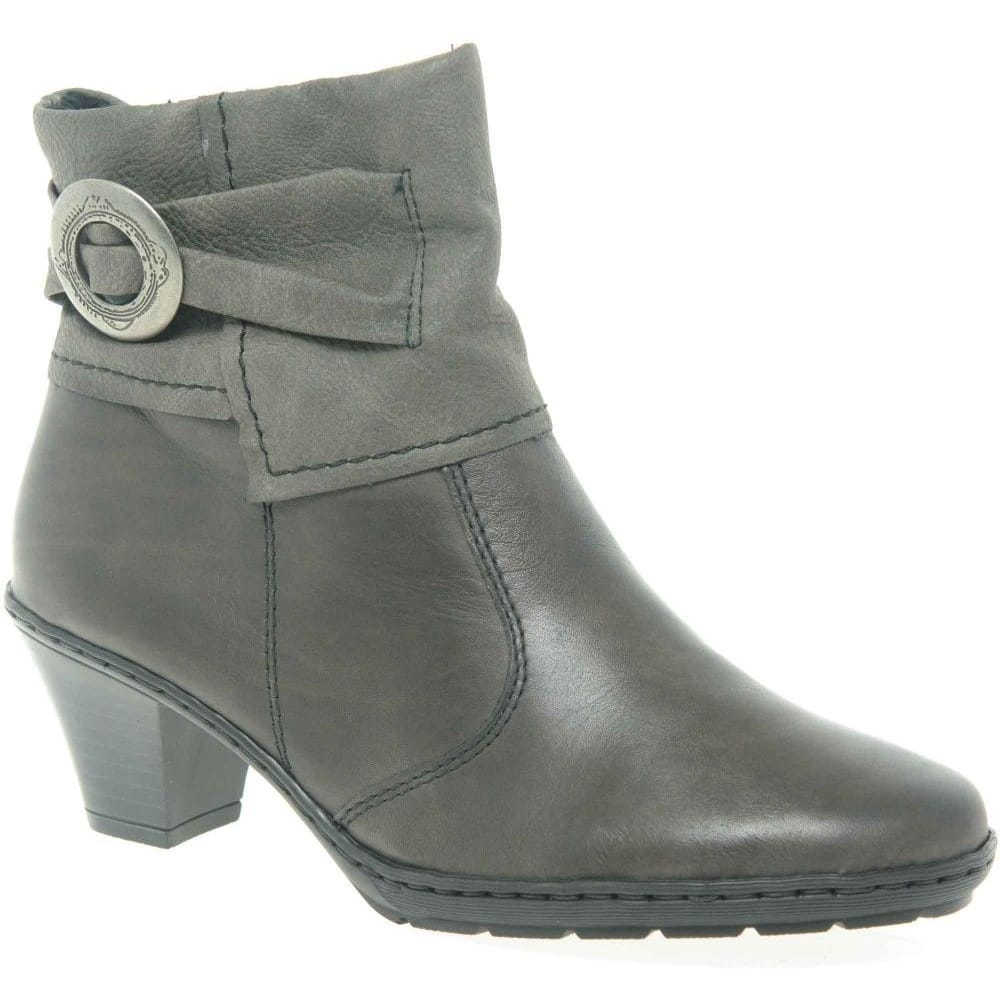 Dr Martens Lahiri Womens Leather Long Boots In Gunmetal Grey or Black