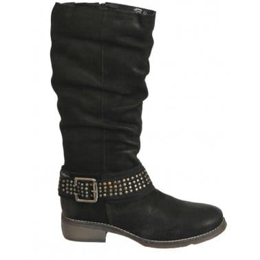 Fly London Yema Mousse Boots Black Leather