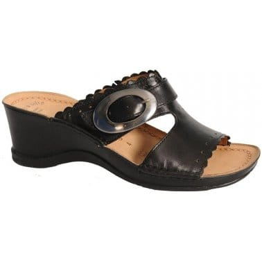 Fly London Yone Sandals Black Suede