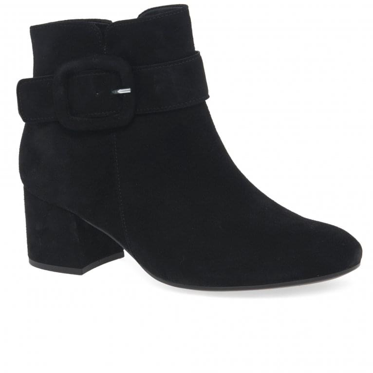Gabor Capri Womens Chunky Buckle Detail Ankle Boots