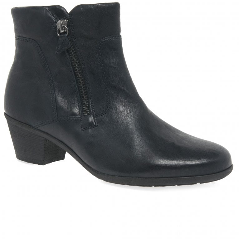 Gabor Selina Womens Zip Classic Leather Ankle Boots