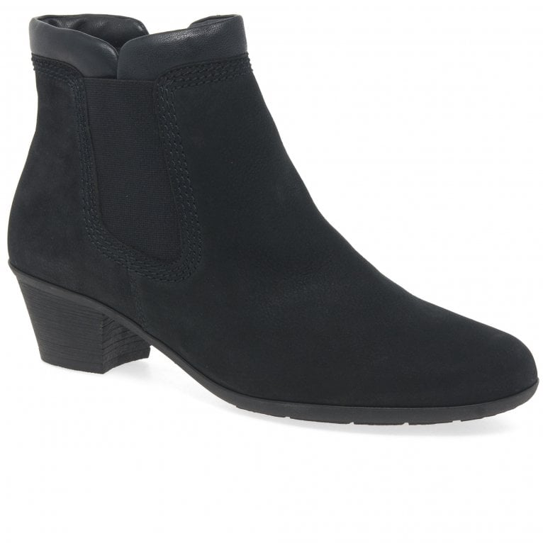 Gabor Sound 2 Womens Zip Leather Top Chelsea Boots