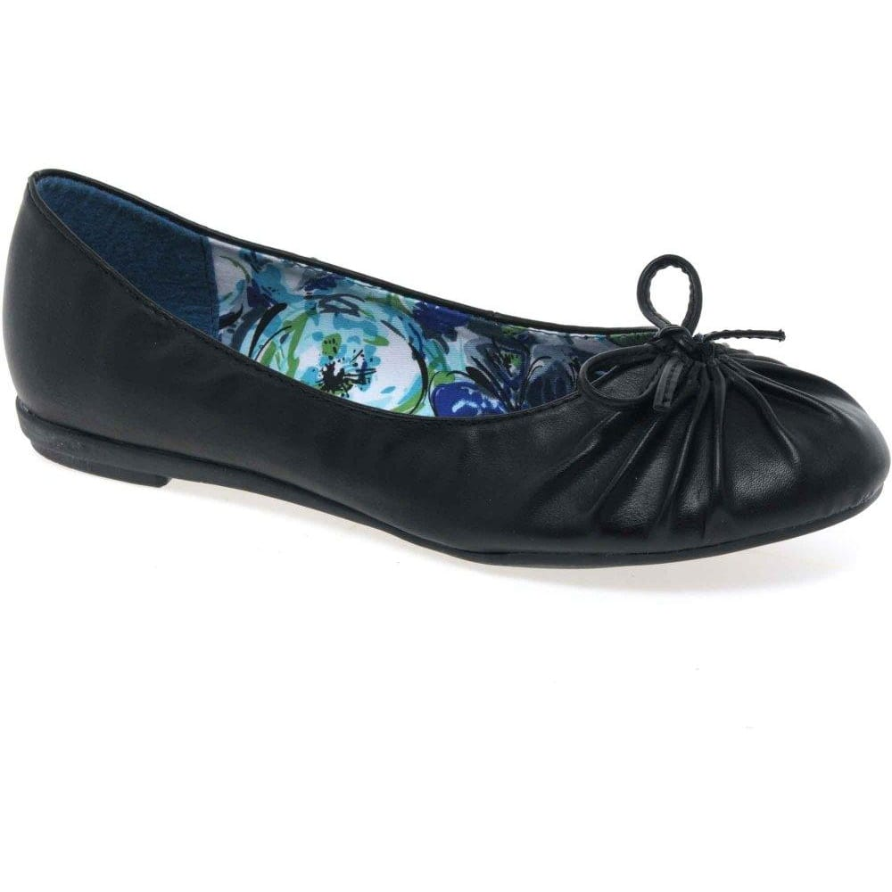 9aa10ce783323 Hush Puppies Millie Ballerinas | Womens Leather Slip Ons | Shoetique