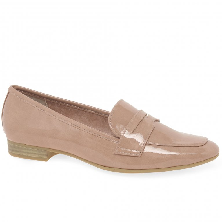 Marco Tozzi Ionic Patent Ladies Penny Style Loafers