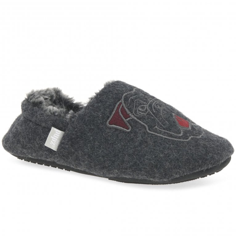 Buster Boxer Dog Boys Faux Fur Lined Full Slippers