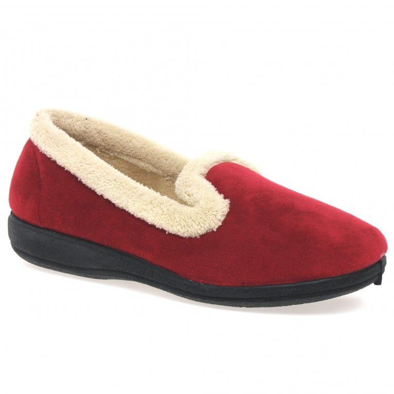 Lunar Chique Womens Cosy Lined Plush Slippers