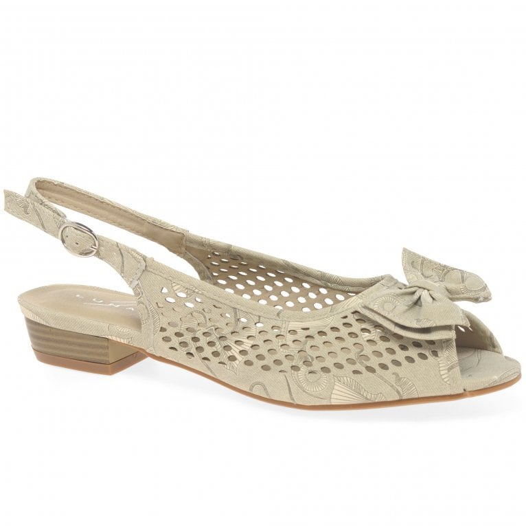 Lunar (GRS) Maine Womens Slingback Peep Toe Shoes