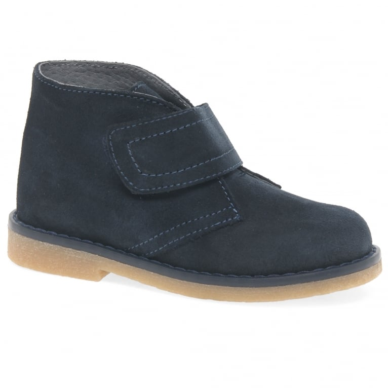 Melania Clark Youth Boy's Rip Tape Desert Ankle Boots