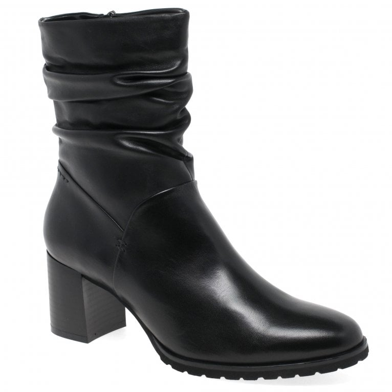 Regarde Le Ciel Cady 03 Womens Ruched Leather High Cut Ankle Boots