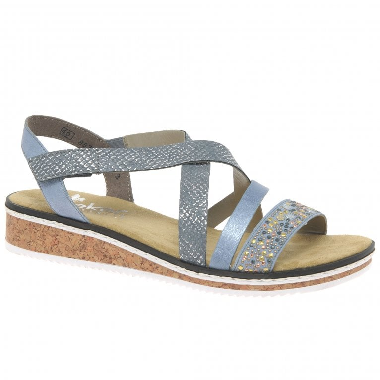 Rieker Kindy Womens Riptape Sandals