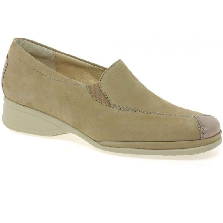 Semler Ria Womens Leather Patent Toe Loafers