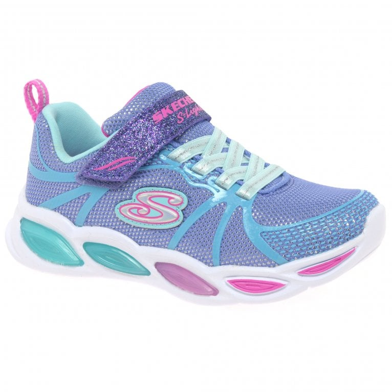 Skechers Shimmer Beams Sporty Glow Girls Youth Sports Trainers