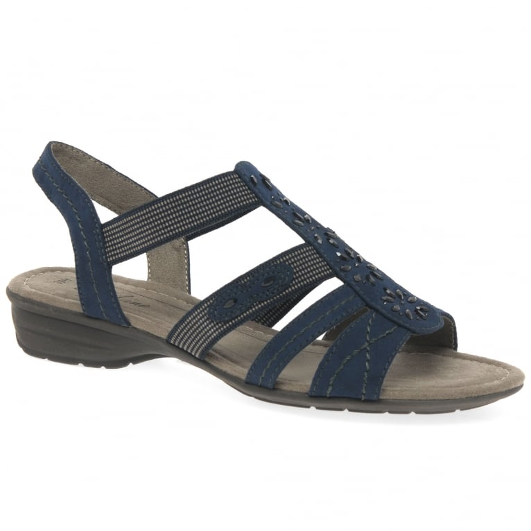 Soft Line (Jana) Stella Womens Casual Cage Embellished Sandals