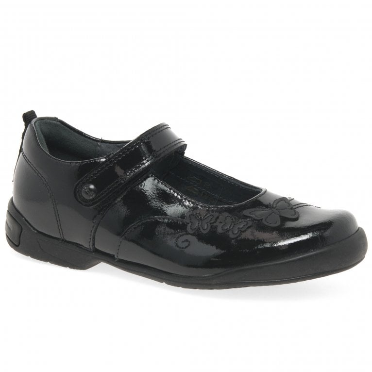 Startrite Pump Girls Leather Mary Jane Rip Tape Butterfly School Shoes