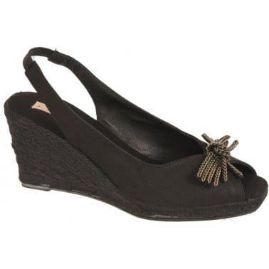 Toms Womens Trainers Del Rey Black Tribal Woven