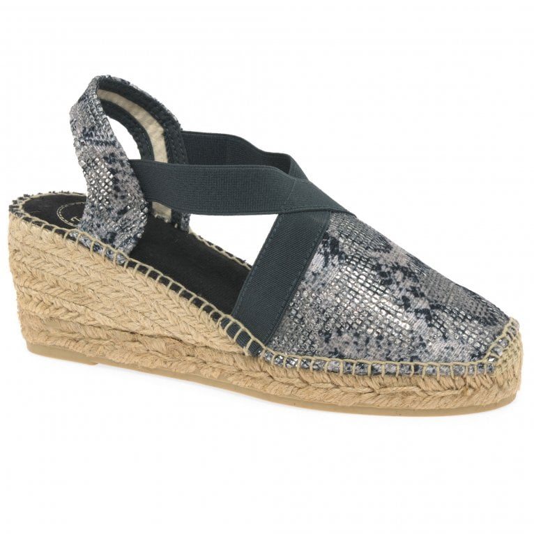 Toni Pons Terra Womens Wedge Heel Espadrille Sandals