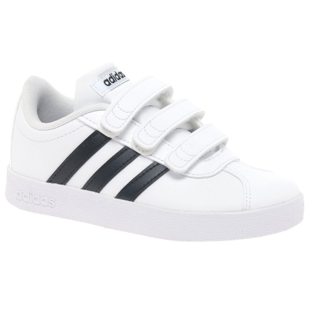 Adidas VL Court Kids Toddler Riptape Sports Trainers   Charles Clinkard